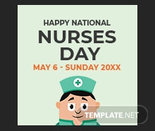 Free Nurses Day Facebook Profile Photo Template