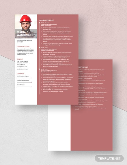 Construction Project Engineer Resume Download