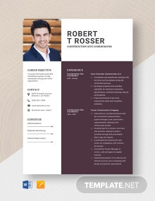 Construction Site Coordinator Resume Template