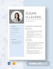 Digital Director Resume Template