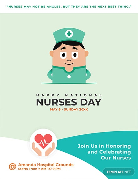 Free Nurses Day Flyer Template