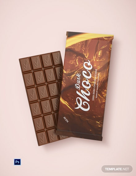 Dark Chocolate Packaging Template