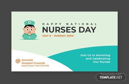 Free Nurses Day Google Plus Cover Template