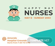 Free Nurses Day Google Plus Cover Template