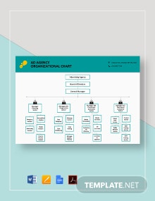 AD Agency Organizational Chart Template