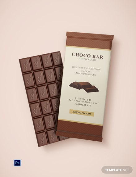 Printable Chocolate Packaging Template