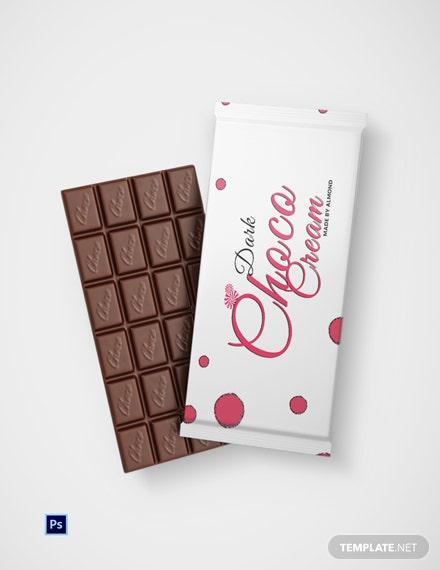 Chocolate Cream Packaging Template