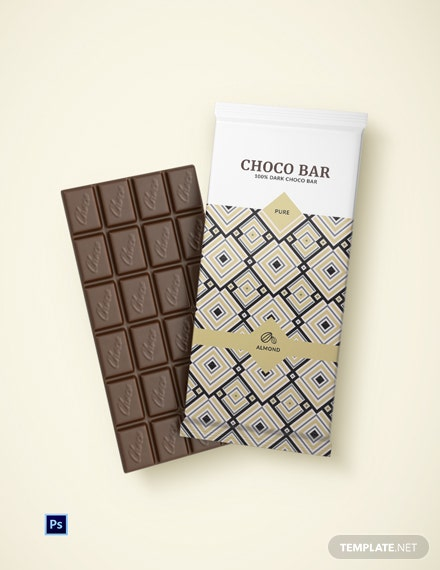 Editable Chocolate Packaging Template
