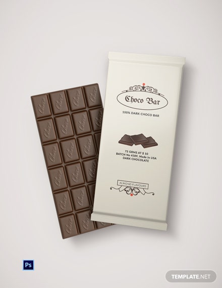 Sample Chocolate Packaging Template