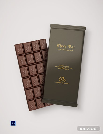Editable Dark Chocolate Packaging Template