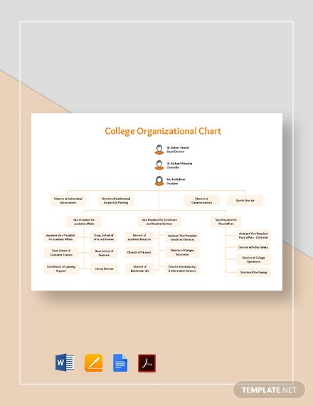 College Organizational Chart Template