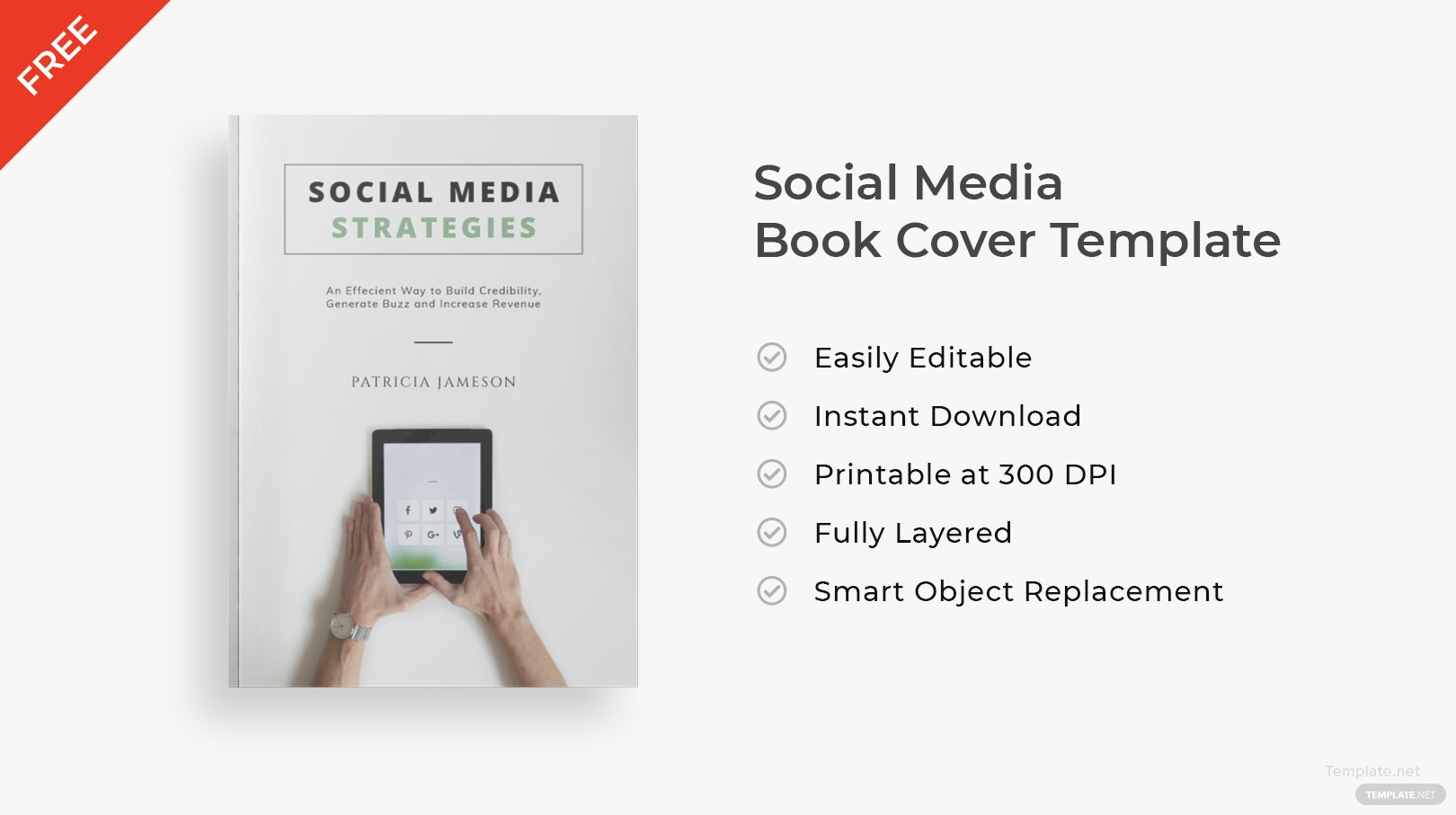 Book Cover Template Adobe Illustrator ~ Free social media book cover template in adobe photoshop