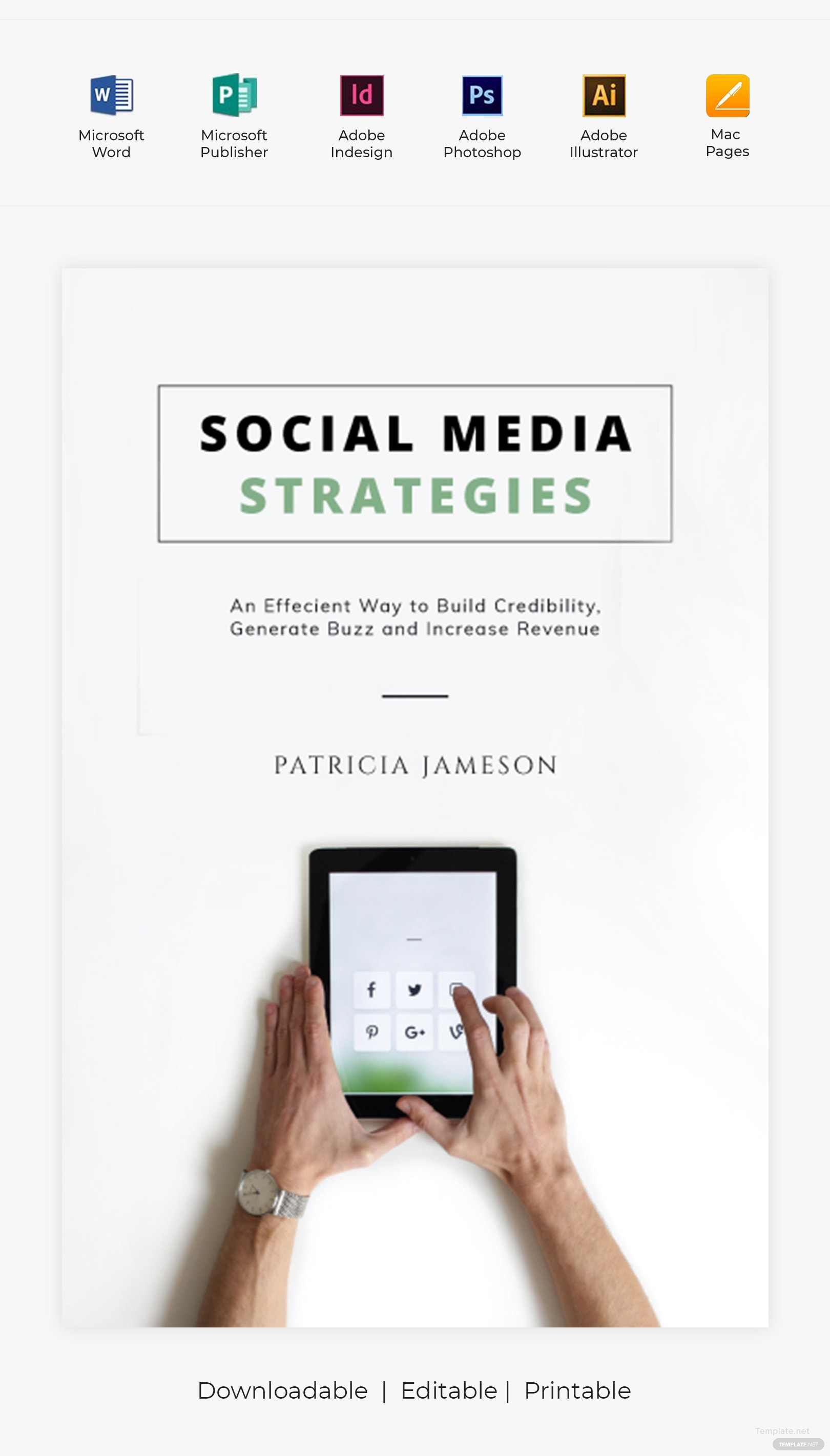 Free Social Media Book Cover Template in Adobe Photoshop ...