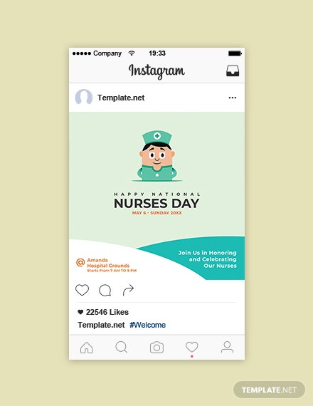 Free Nurses Day Instagram Post Template