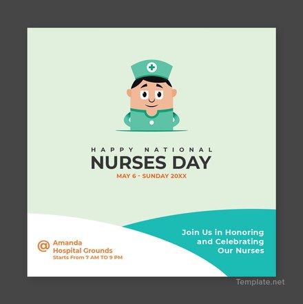 Free Nurses Day Instagram Post Template