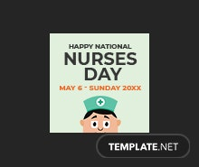 Free Nurses Day Instagram Profile Photo Template