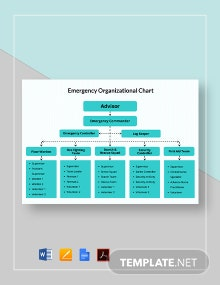 Emergency Organizational Chart Template