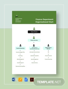 Finance Department Organizational Chart Template