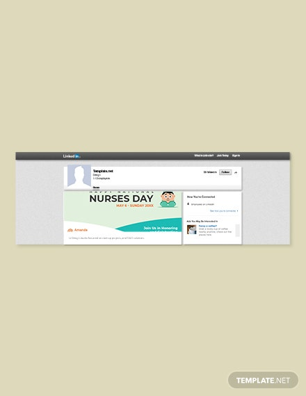 Free Nurses Day LinkedIn Blog Post Template