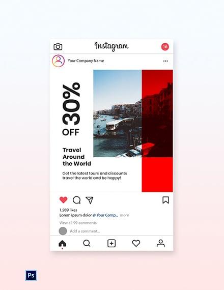 Free Modern Travel Instagram Post Template