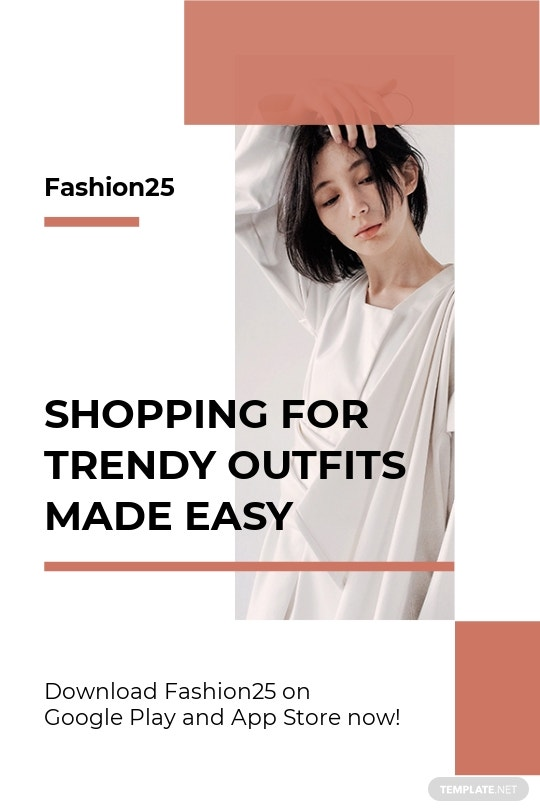 Free Minimalistic Fashion App Promotion Tumblr Post Template