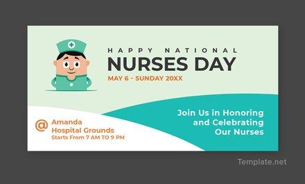 Free Nurses Day LinkedIn Company Cover Template