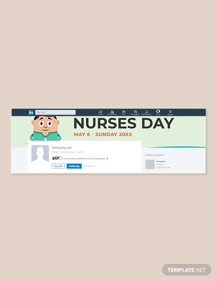 Free Nurses Day LinkedIn Company Cover Template