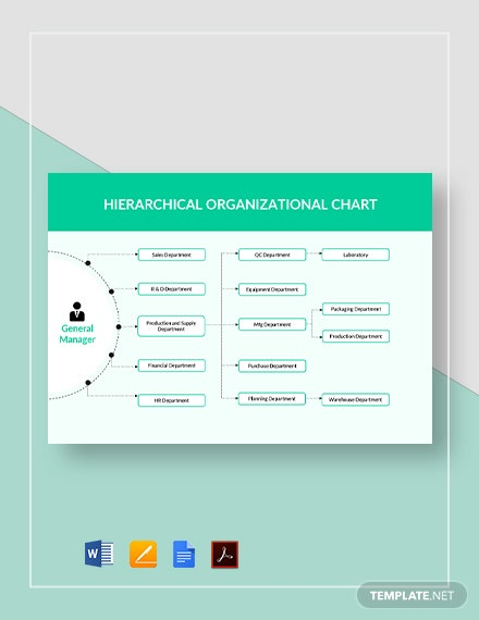 Hierarchical Organizational Chart Template