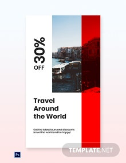 Free Modern Travel WhatsApp Image Template