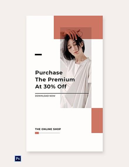 Free Minimalistic Fashion App Promotion Whatsapp Image Template