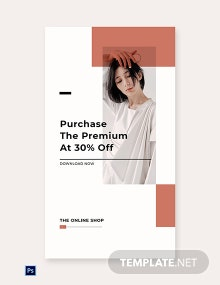 Minimalistic Fashion App Promotion Whatsapp Post Template