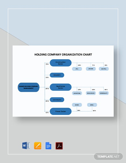 Holding Company Organizational Chart Template