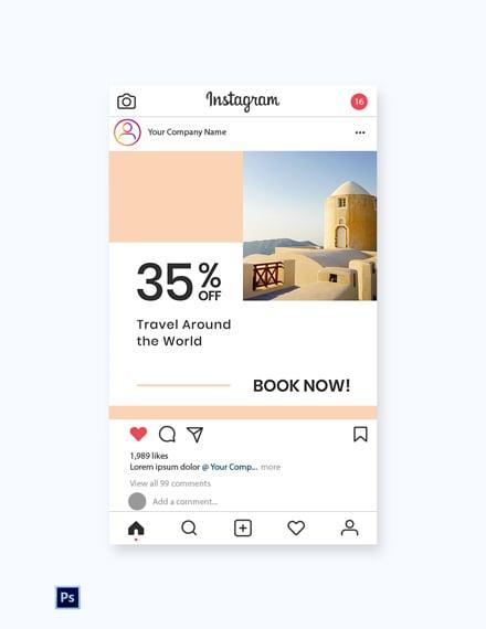 Free Travel Brands Instagram Post Template