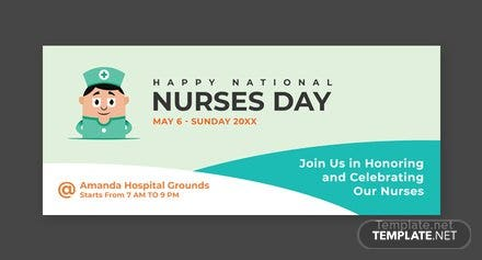 Free Nurses Day LinkedIn Profile Banner Template