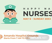 Free Nurses Day LinkedIn Profile Banner Template