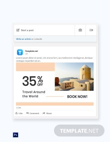 Free Travel Brands LinkedIn Blog Post Template