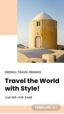 Free Travel Brands Whatsapp Image Template