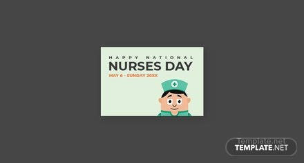 Free Nurses Day Pinterest Board Cover Template