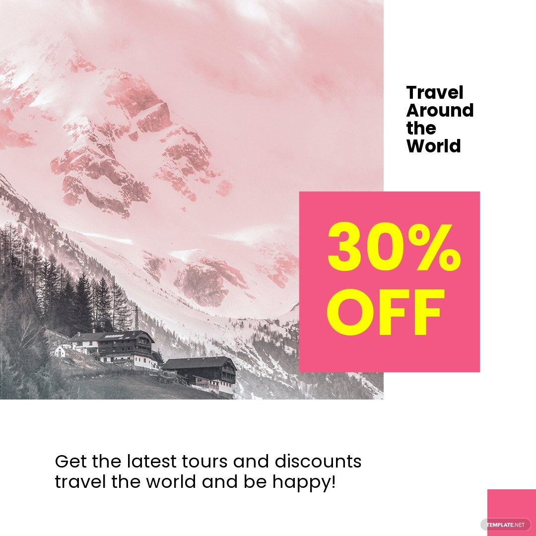Free Travel Discount Instagram Post Template