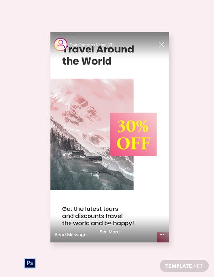 Free Travel Discount Instagram Story Template