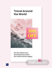 Free Travel Discount Whatsapp Image Template