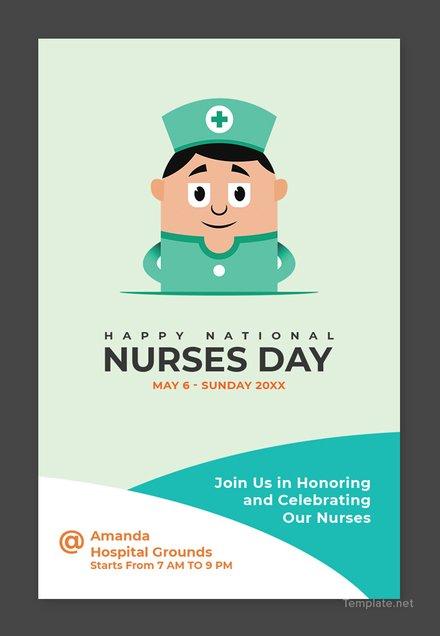 Free Nurses Day Pinterest Pin Template
