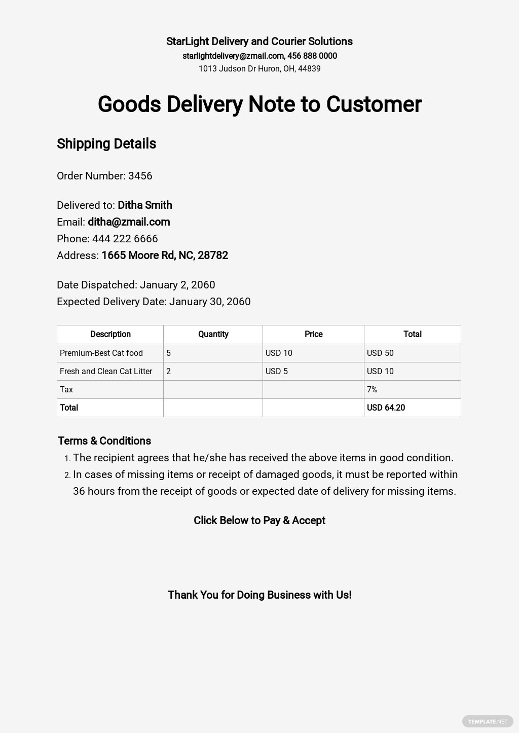 Goods Delivery Note Template to Customer.jpe