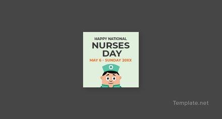 Free Nurses Day Pinterest Profile Photo Template