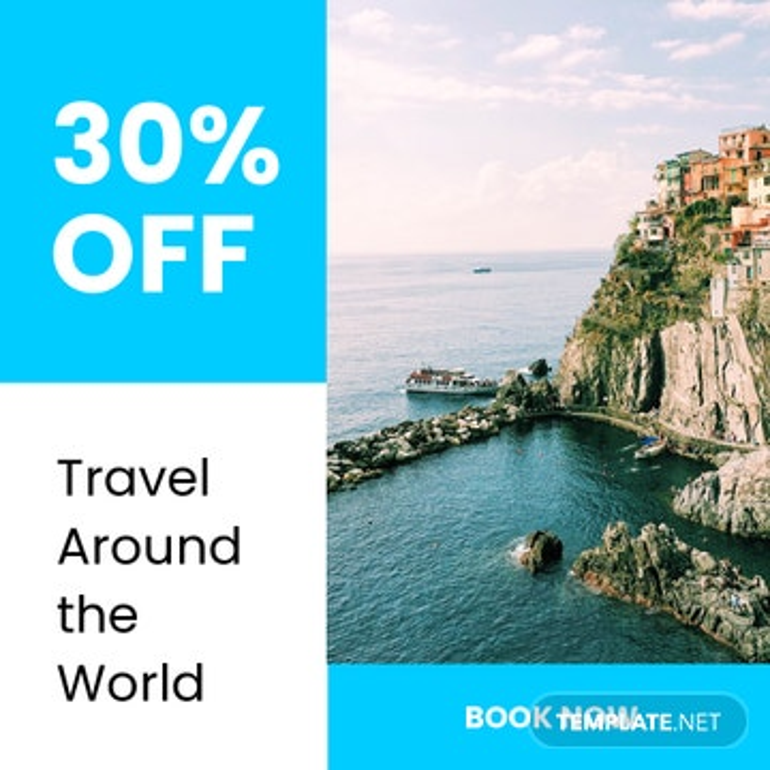 Travel Offer Instagram Post Template