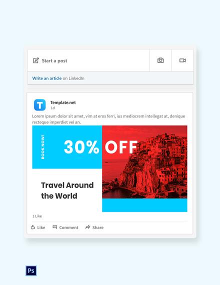 Free Travel Offer LinkedIn Blog Post Template