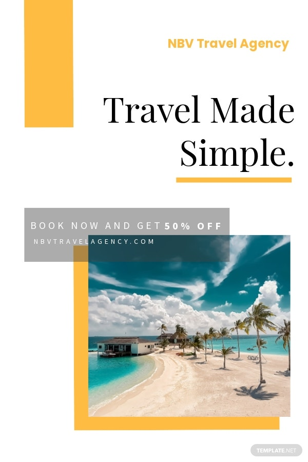 Free Travel Offer Pinterest Pin Template