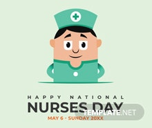 Free Nurses Day Poster Template