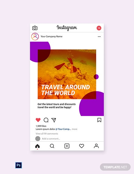 Free Travel Tour Instagram Post Template