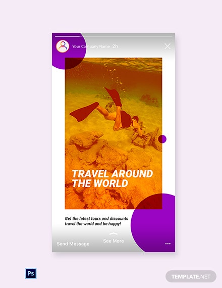 Free Travel Tour Instagram Story Template